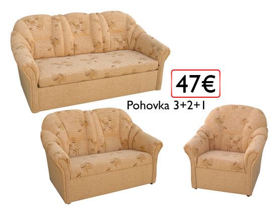 pohovka 3+2+1 47€