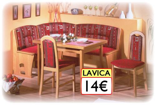kuchynská lavica 14€